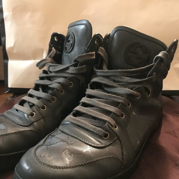 89eac2f338b Gucci Other - GUCCI High Top sneakers coda GG imprime
